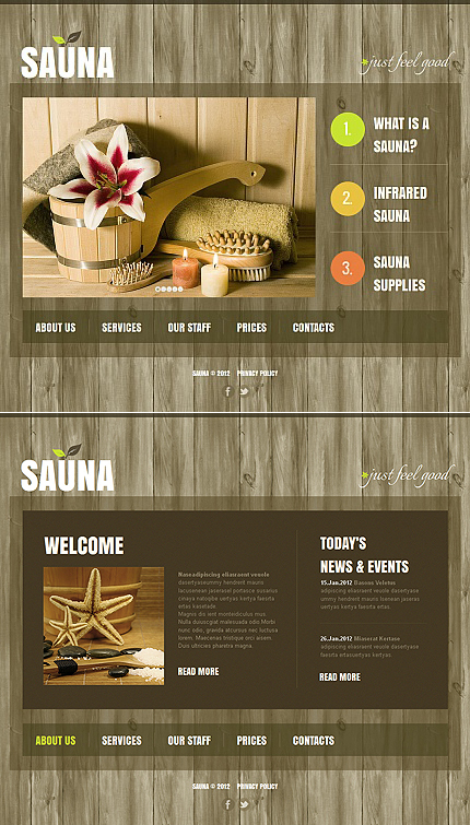 ADOBE Photoshop Template 43134 Home Page Screenshot