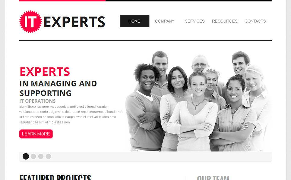 Plantilla Moto CMS HTML #43135 para Sitio de Tecnología de la información New Screenshots BIG