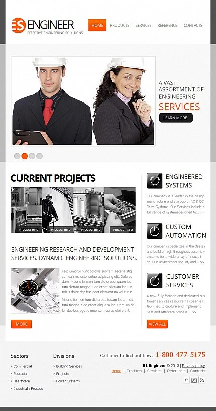 ADOBE Photoshop Template 43139 Home Page Screenshot