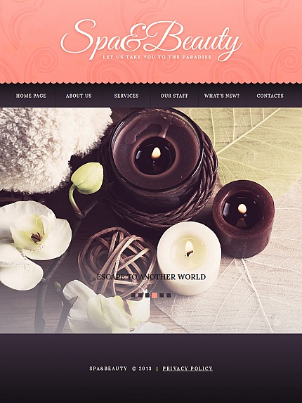ADOBE Photoshop Template 43140 Home Page Screenshot