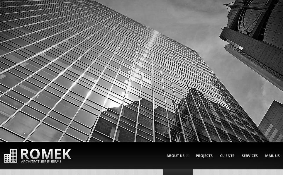 Plantilla web 43176 para sitio de arquitectura for Arquitectura sitio web