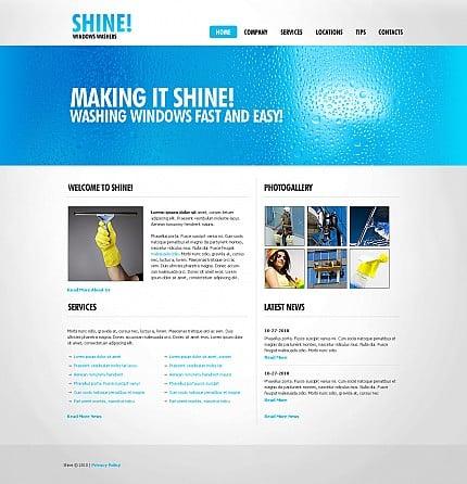ADOBE Photoshop Template 43181 Home Page Screenshot