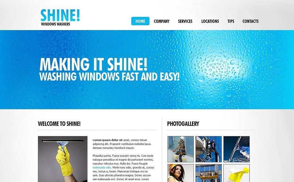 Premium Flash CMS Template over Glasbewassing  New Screenshots BIG