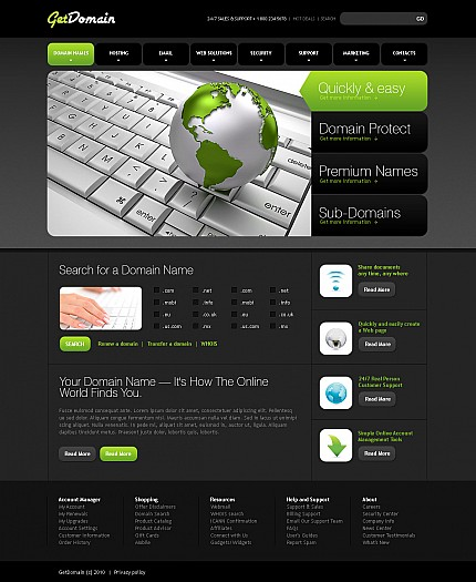 ADOBE Photoshop Template 43182 Home Page Screenshot