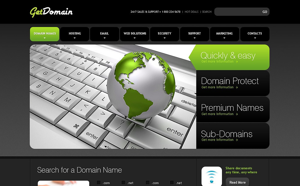 Luxusní Flash CMS šablona na téma Vývoj webu New Screenshots BIG