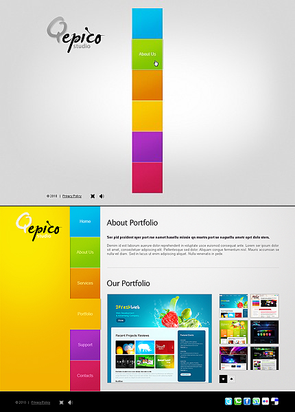 ADOBE Photoshop Template 43183 Home Page Screenshot