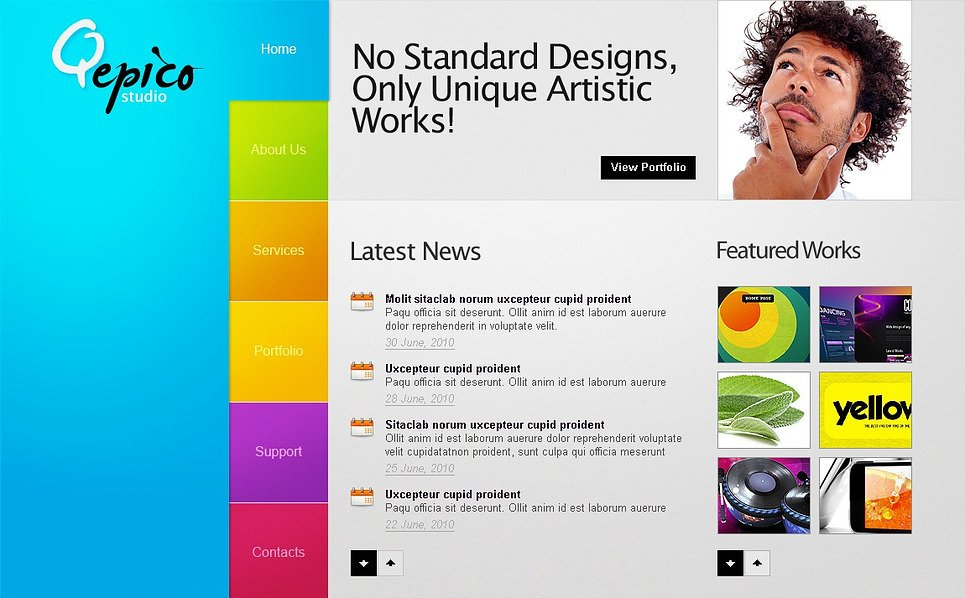 Prémium Design studiók  Flash CMS sablon New Screenshots BIG