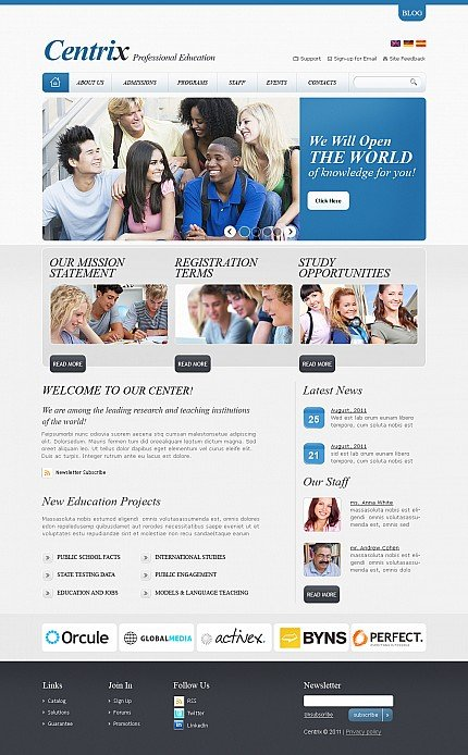 ADOBE Photoshop Template 43185 Home Page Screenshot