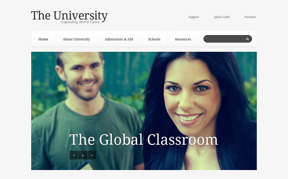 Responsive Website template over Universiteit  New Screenshots BIG