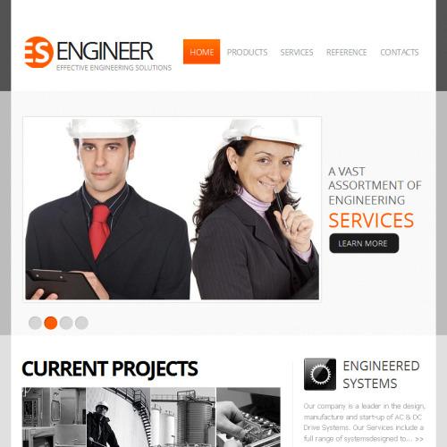 ES Engineering - Facebook HTML CMS Template