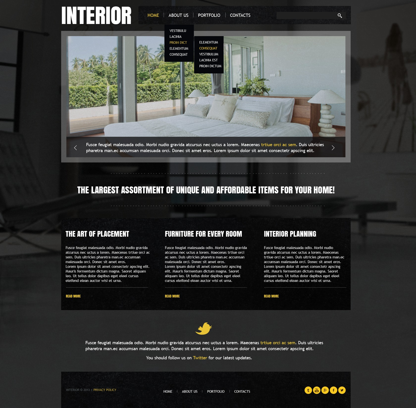 Interior design website template 43165 - Interior design discount websites ...
