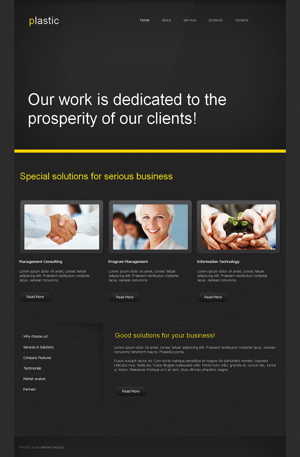 Marketing Agency Moto CMS HTML Template New Screenshots BIG