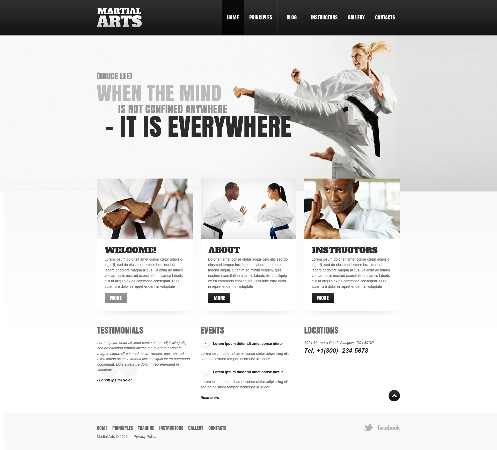 """Martial Arts"" Responsive WordPress thema №43186 - screenshot"