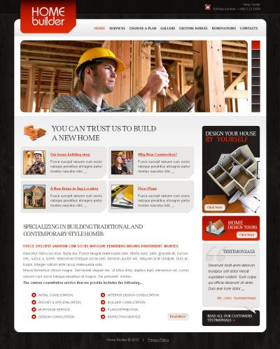 Construction Company MotoCMS HTML шаблон