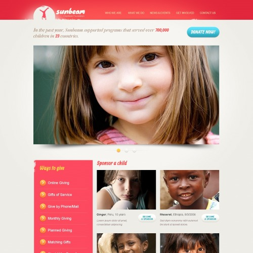 Sun Bean - Drupal Charity Website Template