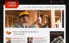 Prémium Építőipari vállalatok témakörű  Moto CMS HTML sablon New Screenshots BIG