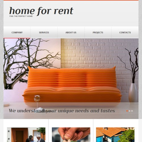 Home For Rent - Facebook HTML CMS Template