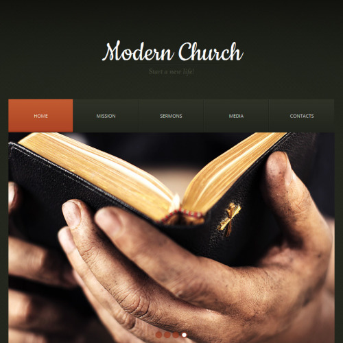 Modern Church - Facebook HTML CMS Template