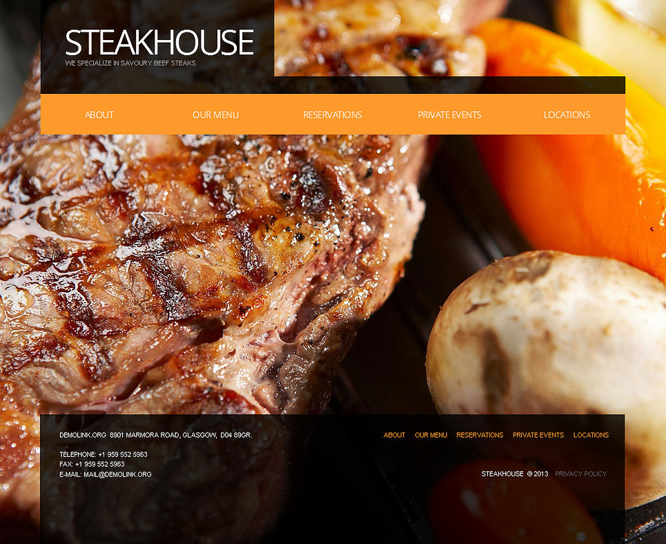 Steakhouse Moto CMS HTML Template New Screenshots BIG