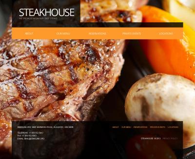 Szablon Moto CMS HTML #43129 na temat: restauracja amerykańska
