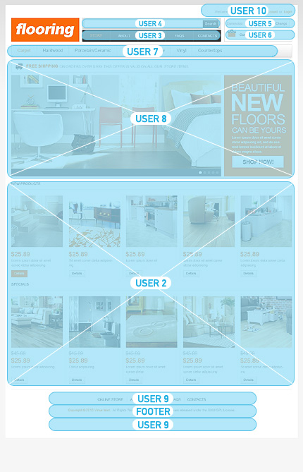 ADOBE Photoshop Template 43201 Home Page Screenshot