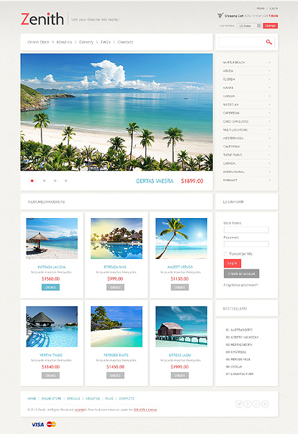 ADOBE Photoshop Template 43203 Home Page Screenshot