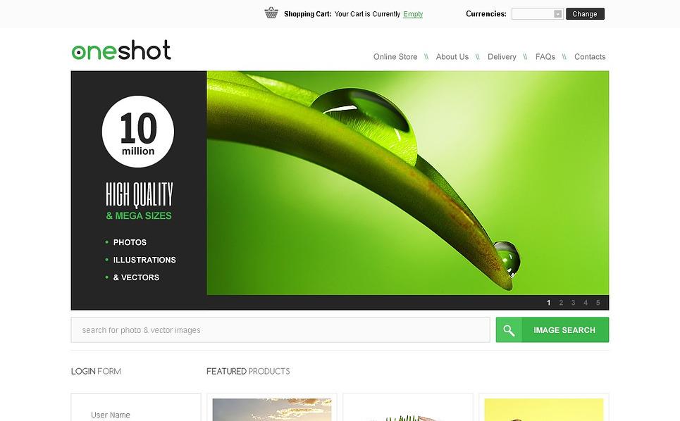 Plantilla VirtueMart #43207 para Sitio de Stock Foto New Screenshots BIG