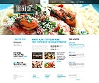 Cafe & Restaurant Website  Template 43213