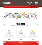 Charity Website  Template 43215