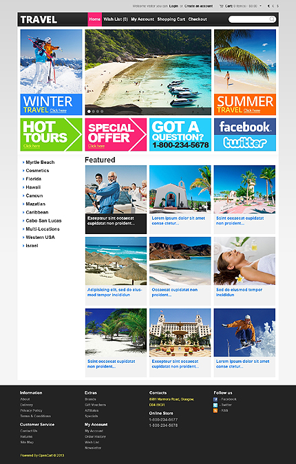 ADOBE Photoshop Template 43219 Home Page Screenshot