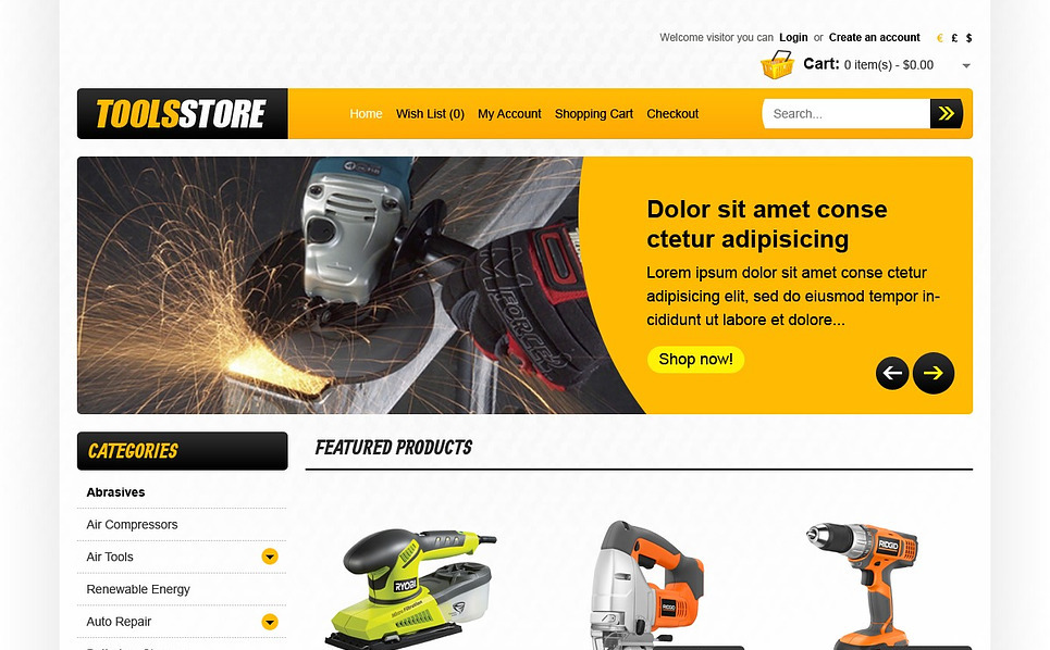 OpenCart Template over Instrumenten & Apparatuur  New Screenshots BIG