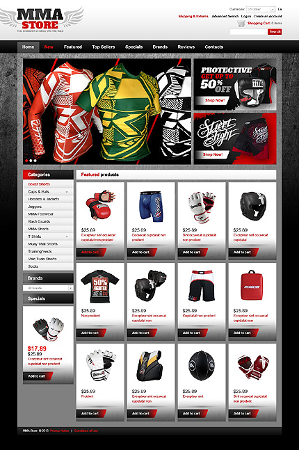 osCommerce Template 43227 Main Page Screenshot