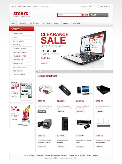osCommerce Template 43228 Main Page Screenshot