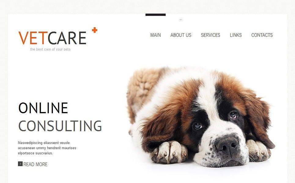 Premium Moto CMS HTML Template over Dierenarts New Screenshots BIG