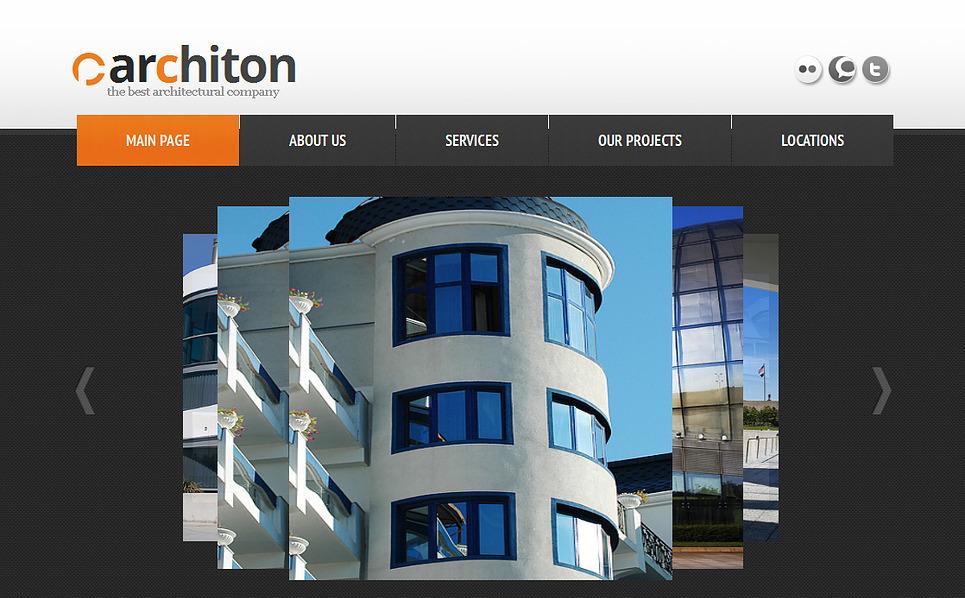 Modèle Moto CMS HTML  pour site d'architecture New Screenshots BIG