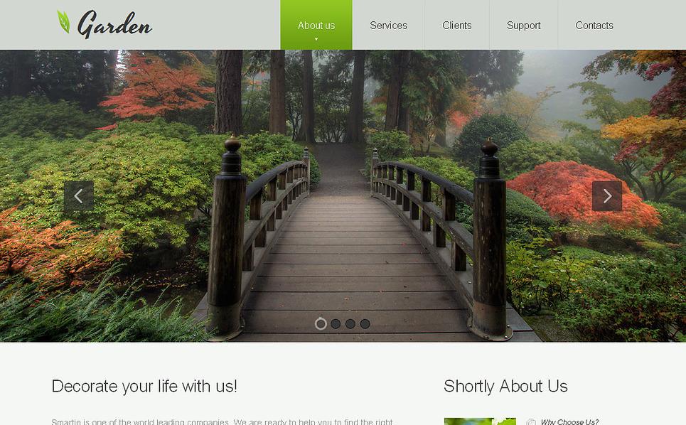 Premium Bahçe Tasarımı  Moto Cms Html Şablon New Screenshots BIG