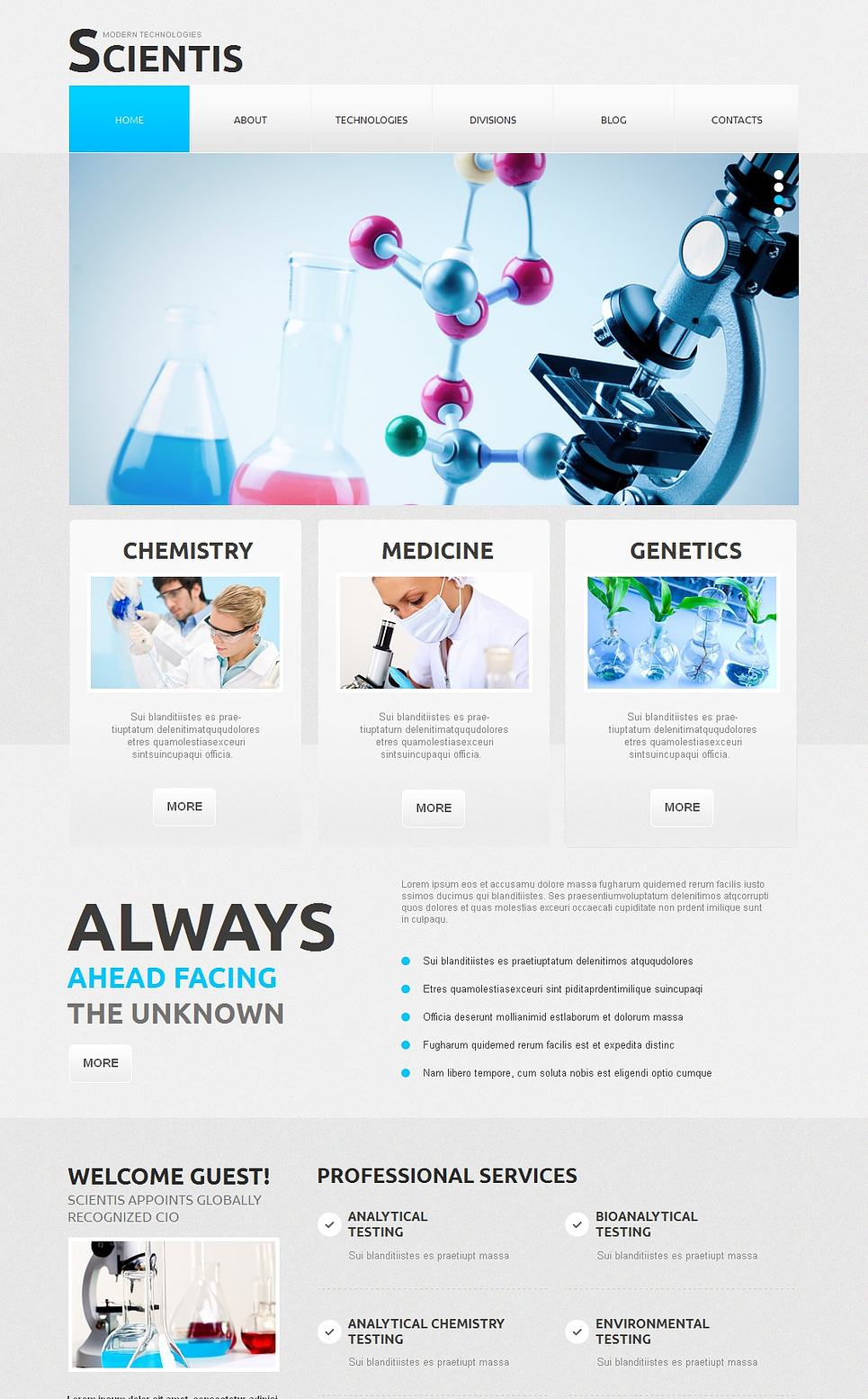 Gray Website Template for Scientists - image