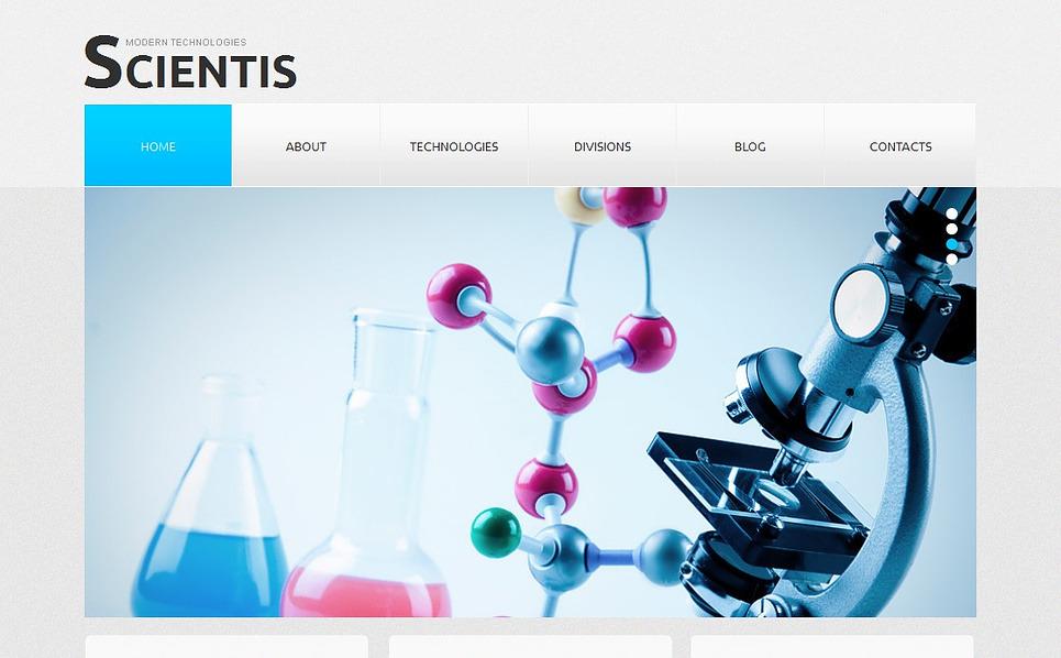 MotoCMS HTML шаблон на тему наука New Screenshots BIG