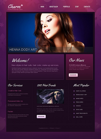 ADOBE Photoshop Template 43247 Home Page Screenshot