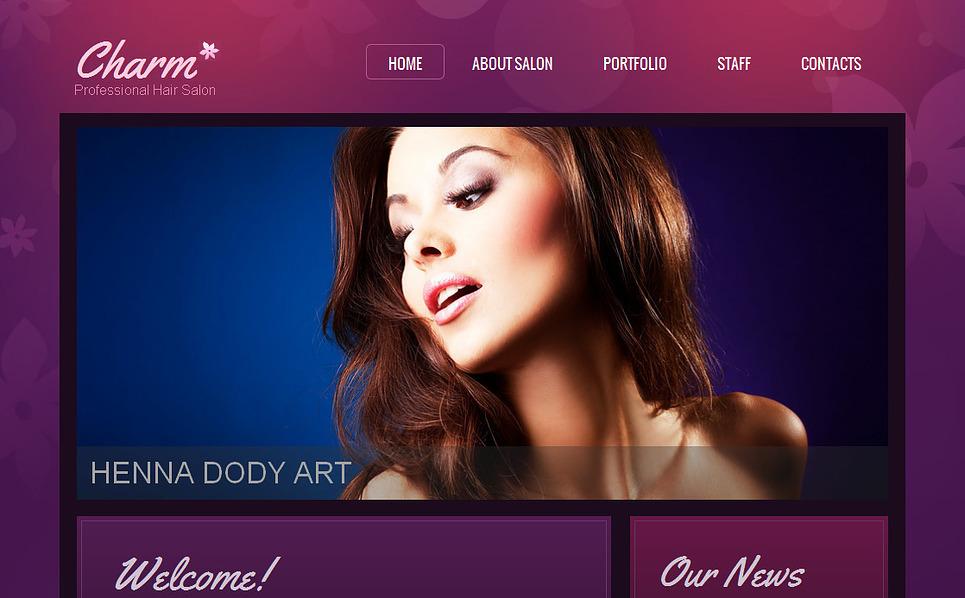Luxusní Moto CMS HTML šablona na téma Kadeřnictví New Screenshots BIG