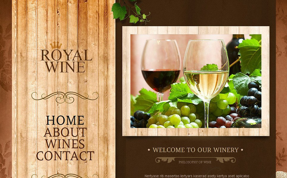 Moto CMS HTML Vorlage für Wine  New Screenshots BIG