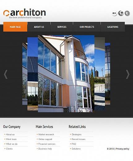 ADOBE Photoshop Template 43269 Home Page Screenshot