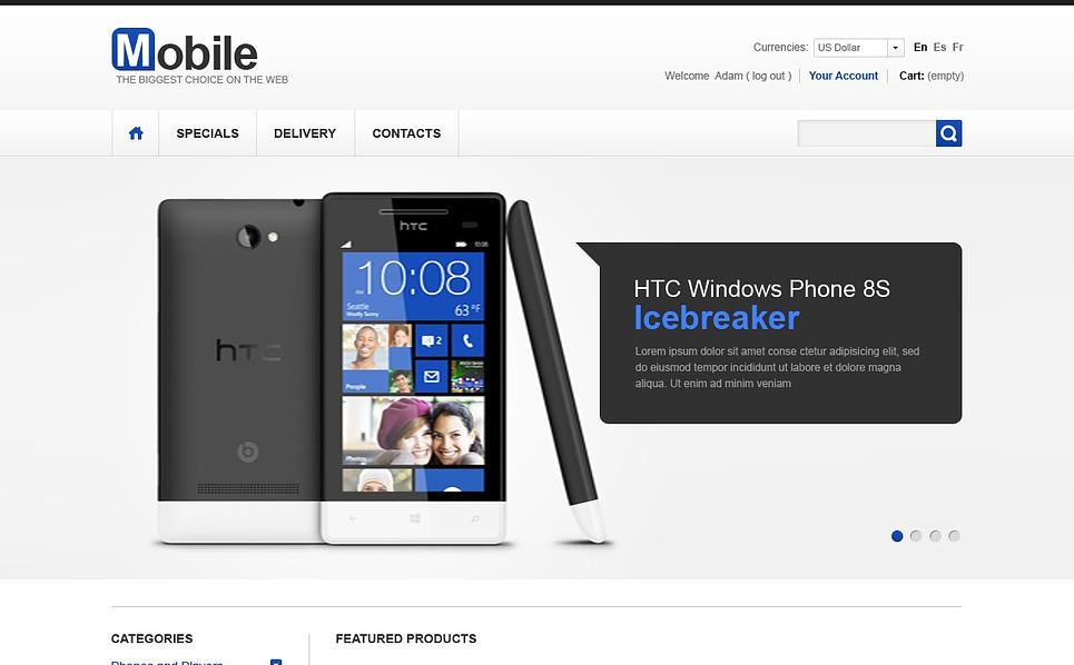 Mobil áruházak PrestaShop sablon New Screenshots BIG