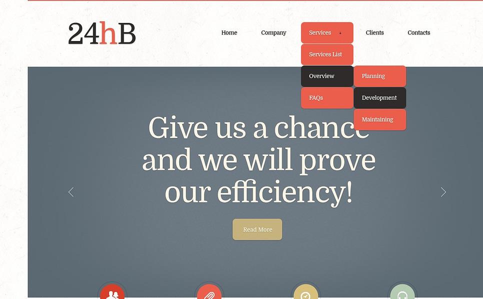 Modello Siti Web Responsive #43283 per Un Sito di Consulente Finanziario New Screenshots BIG
