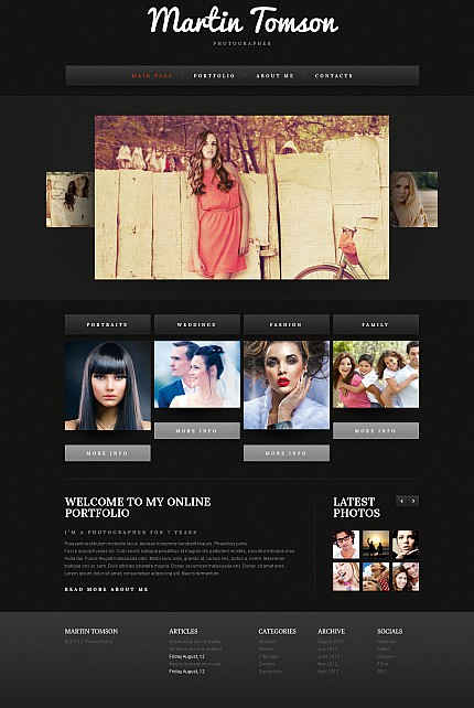 ADOBE Photoshop Template 43284 Home Page Screenshot