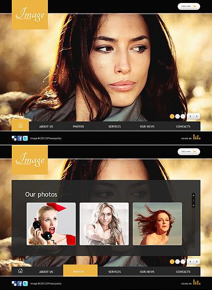 ADOBE Photoshop Template 43285 Home Page Screenshot