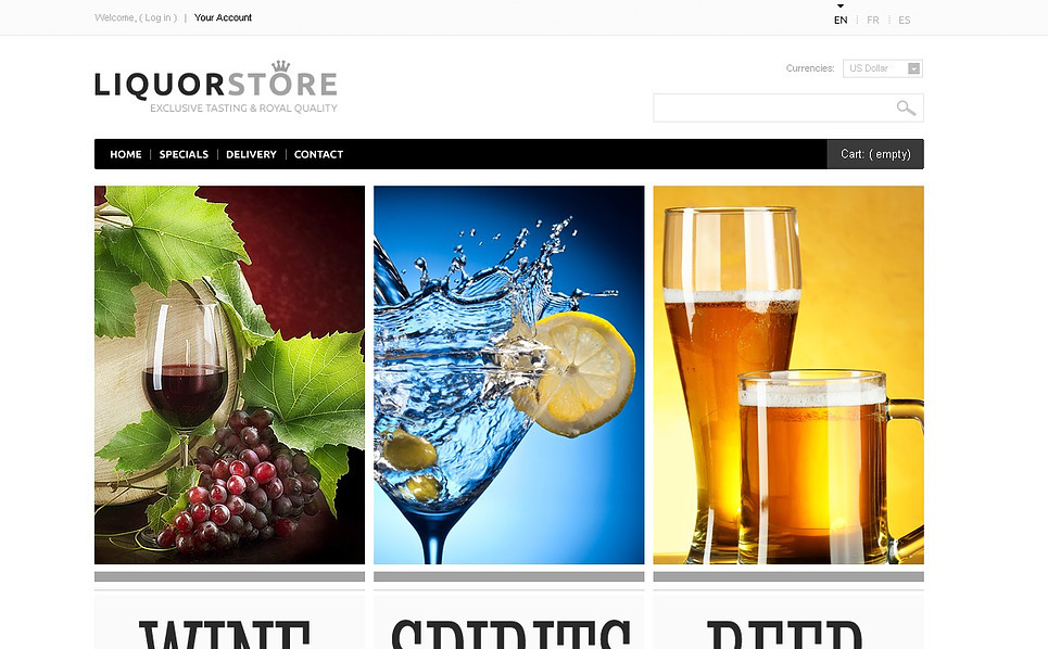 "Tema De PrestaShop ""Bebidas Alcohólicas"" New Screenshots BIG"