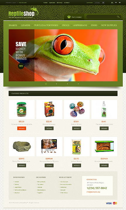 ADOBE Photoshop Template 43292 Home Page Screenshot