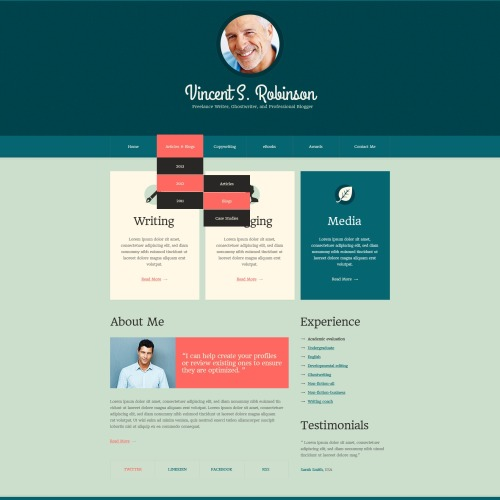 Vincents Robinson - HTML5 Drupal Template