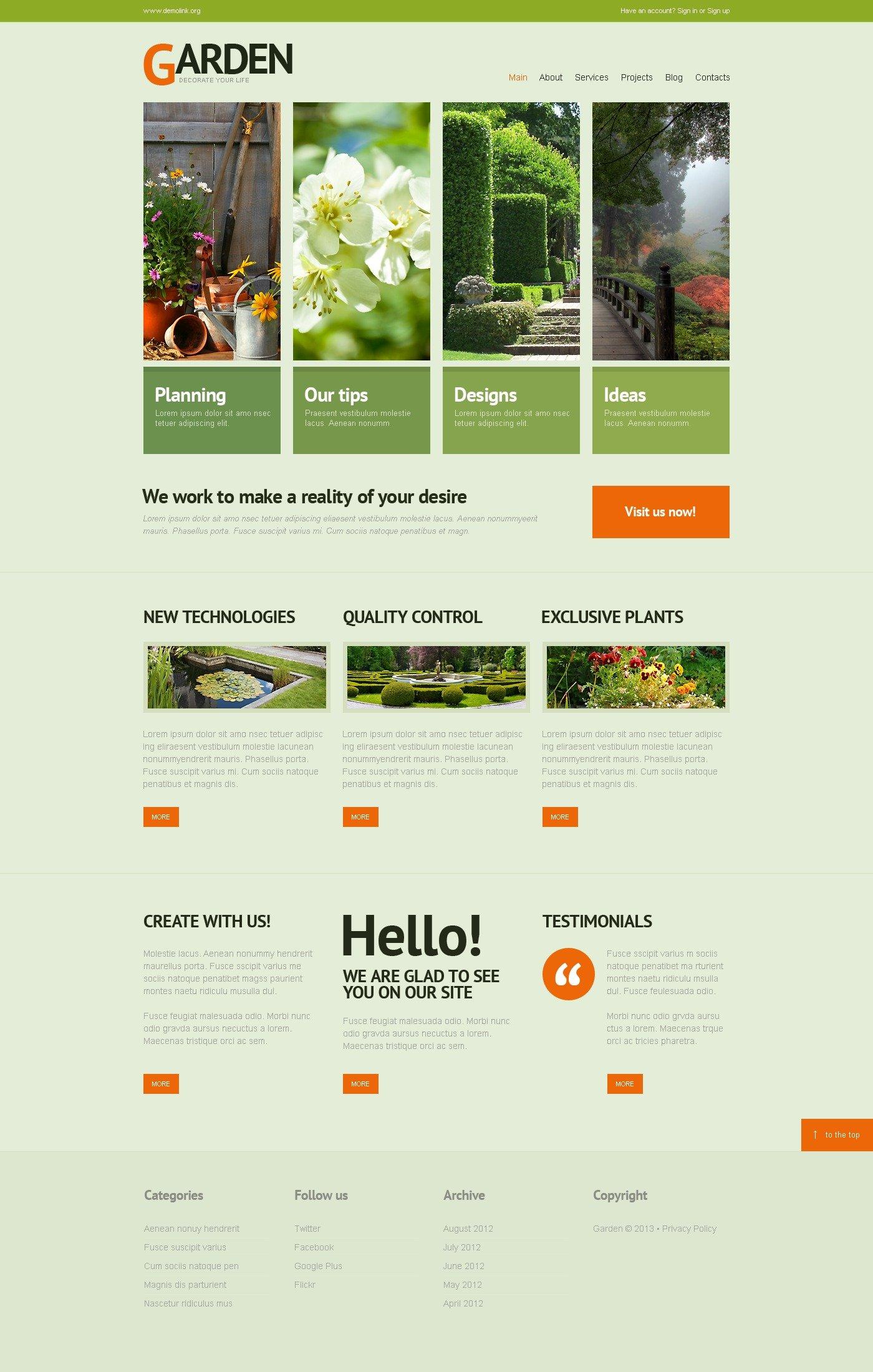 Garden Design WordPress Theme